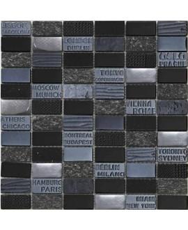 mosaique mocity noir 30x30.3 cm