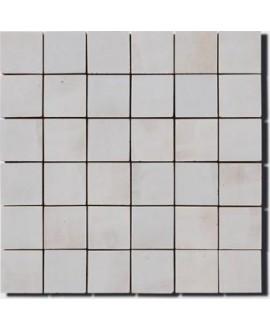 mosaique zellige 5x5cm gris clair sur trame 30x30cm