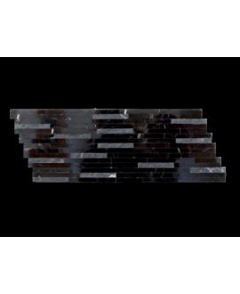mosaique marbre barettes noires 15x40 cm