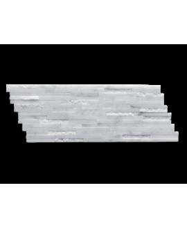 mosaique marbre barettes blanches 15x40 cm