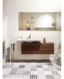 Carrelage patchwork metrosign imitation carreau ciment 20x20 cm rectifié au sol