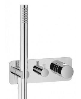 mitigeur douche encastré 3 sorties avec douchette à main onlyone 314 chromé
