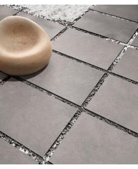 carrelage anti-dérapant forte épaisseur 90x60x2cm, R11 A+B+C, imitation pierre santastone gris