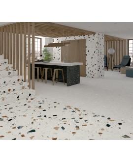 Carrelage imitation terrazzo et granito 80x80cm rectifié, arcamiscella nacar