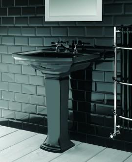 Meuble de salle de bains Imp Radcliffe doré avec robinetterie westminster dorée