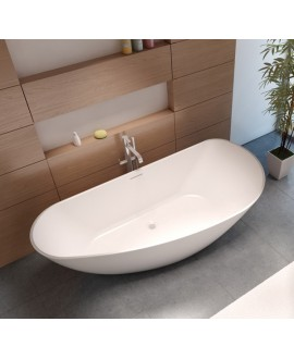 Baignoire Bilbao en ilot de couleur blanc mat 170x80cm