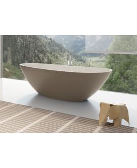 Baignoire Granada en ilot de couleur taupe mat 170x80cm