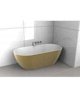 Baignoire Bilbao en ilot de couleur doré mat 170x80cm