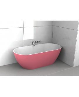 Baignoire Bilbao en ilot de couleur rose mat 170x80cm