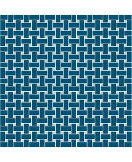 Mosaique en grès cérame fin vitrifié W filet de pêche bleu nuit et ontario en plaque de 31.4x31.4cm
