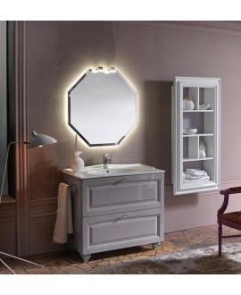 Ensemble de salle de bains AC14 avec un meuble, un miroir et un élément ouvert