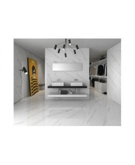 Carrelage mat imitation marbre 60x60cm rectifié , géostatuary blanc
