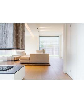 parquet contrecollé en chêne huilé , largeur 260 mm , courchevel xxl villa