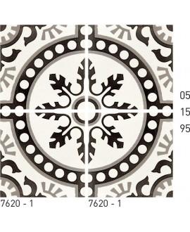 Carreau ciment véritable décor arabesque 7620-2 20x20cm