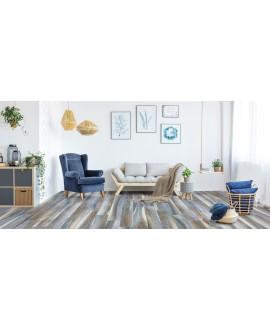 Carrelage imitation parquet moderne mat 20x120cm, savamazonia bleu