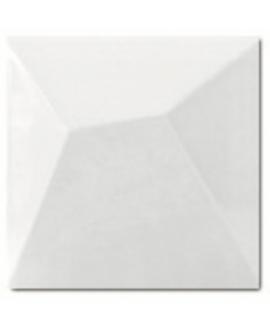 Carrelage 3D brillant fuji blanc 15x15cm
