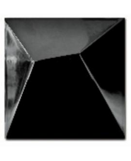 Carrelage 3D brillant fuji noir 15x15cm
