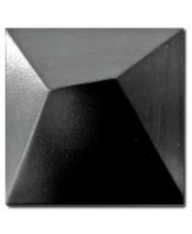 Carrelage 3D mat fuji noir 15x15cm
