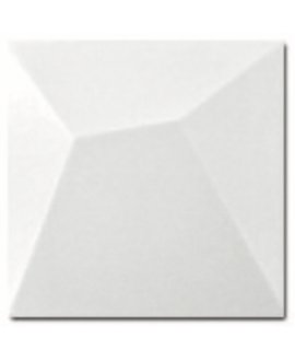 Carrelage 3D mat diffuji blanc 15x15cm