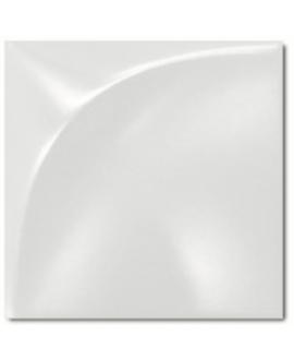 Carrelage 3D mat difeclipse blanc 15x15cm