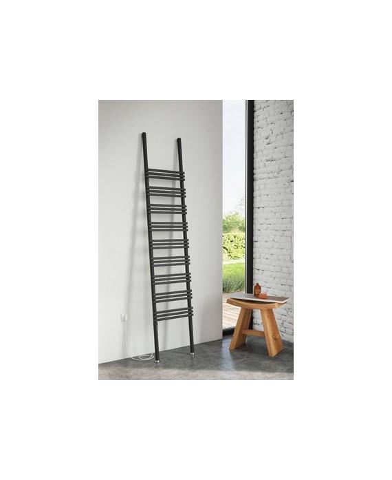 Sèche-serviette radiateur électrique design Antpioli noir mat 50x207cm