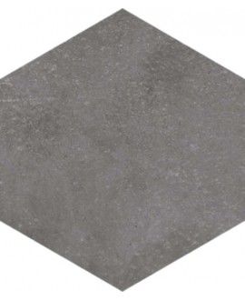 carrelage hexagone rift grafito 23x26.6 cm