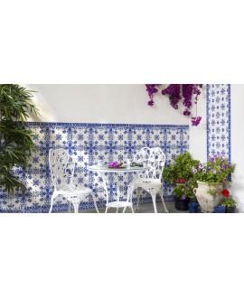 Carrelage décoré D zina bleu allégé 20x20cm