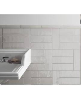 Carrelage rectangulaire contemporain gris clair brillant equipcountry